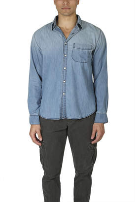 NSF Axel Distressed Button Down Shirt