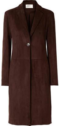 The Row Pryor Suede Coat - Dark brown