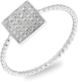 Bony Levy Aurora Diamond Pave Square Ring
