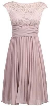 Dorothy Perkins Womens *Jolie Moi Mauve Lace Pleated Dress
