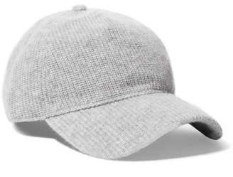 Rag & Bone Marilyn Leather-trimmed Ribbed Cashmere Baseball Cap