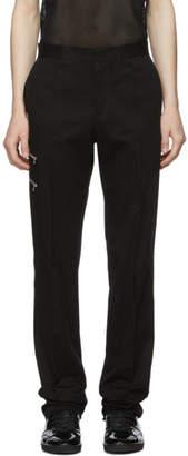 Yang Li Black Zip Slim Tailored Trousers
