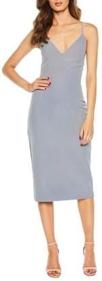 Bardot Asymmetrical Open Back Dress