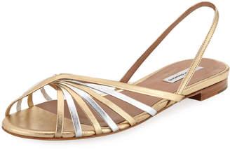 Tabitha Simmons Noel Slingback Mixed Metallic Sandals