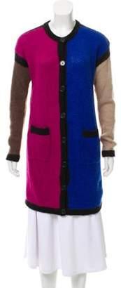 Etro Wool Colorblock Cardigan Blue Wool Colorblock Cardigan