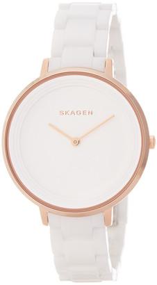 Skagen Women's Ceramic Quartz Watch $245 thestylecure.com