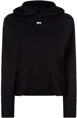 Off-White Off White Peplum Front Hoodie