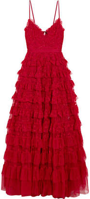 Needle & Thread Marie Tiered Embellished Tulle Gown - UK8