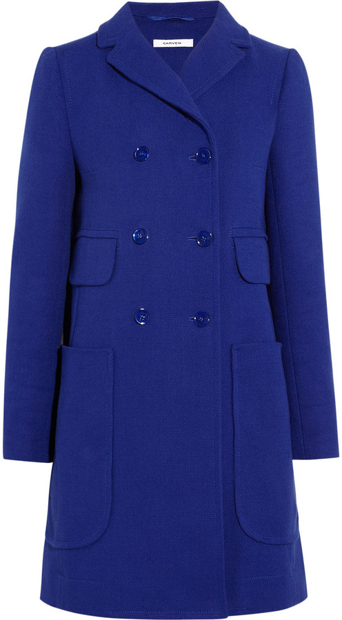 Carven Double-breasted cotton-twill coat