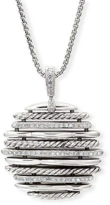 David Yurman Tides Small Diamond & Cable Pendant Necklace