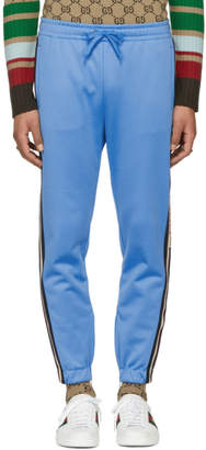 Gucci Blue Logo Tape Sweatpants