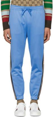 Gucci Blue Logo Tape Sweatpants