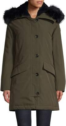 MICHAEL Michael Kors Faux Fur-Trimmed Hooded Jacket