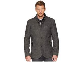Kenneth Cole New York High Collar Wool Button Front Men's Clothing