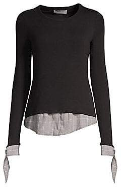 b3763dff44f Bailey 44 Women s Double Date Plaid Layered Sweater