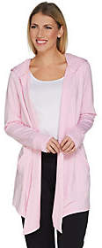 Cuddl Duds Ultra Soft Comfort Drape FrontHooded Cardigan