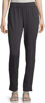 Eileen Fisher Organic Cotton Stretch-Jersey Slim Pants $118 thestylecure.com