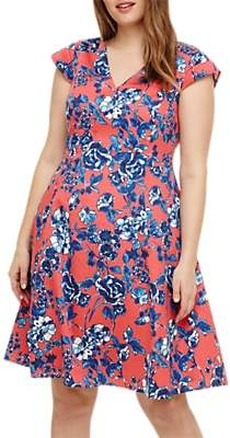 Studio 8 Printed Dress, Coral/Multi