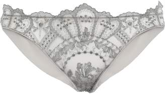 I.D. Sarrieri Embroidered Tulle Mid-rise Briefs