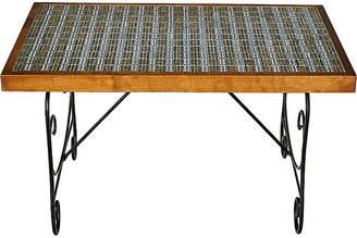 One Kings Lane Vintage 1960s Tile Top & Metal Base Coffee Table - 2-b-Modern