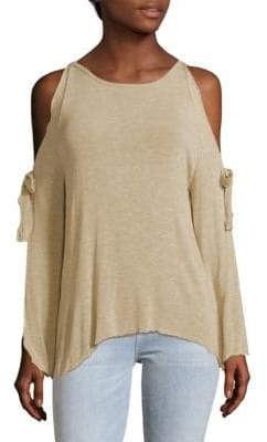Saks Fifth Avenue RED Cold-Shoulder Top
