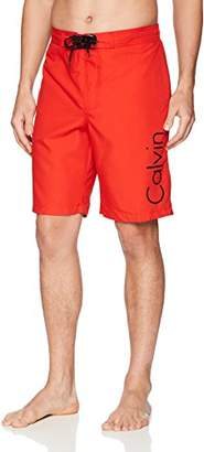 Calvin Klein Men's Solid Logo Board Short