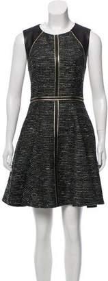 J. Mendel Tweed & Leather Dress