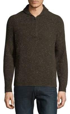 Brooks Brothers Red Fleece Textured Quarter-Zip Pullover