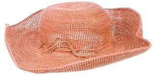 Helen Kaminski Raffia Wide-Brim Hat w/ Tags
