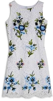 Us Angels Girls' Embroidered Lace Dress - Little Kid