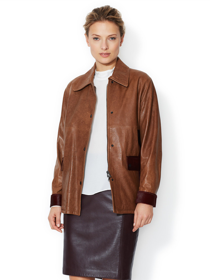 Pringle Leather Contrast Jacket