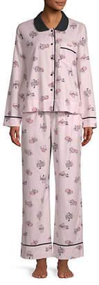 Kate Spade Two-Piece Fox-Print Pyjama Set