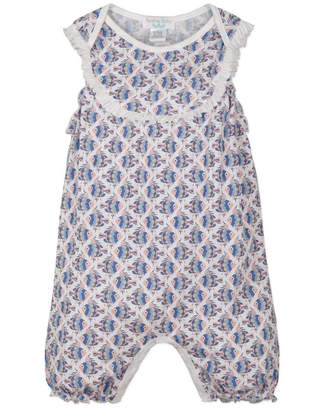 Feather Baby Yoke Romper