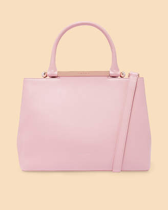 ANABEL Pearl handle large leather tote bag