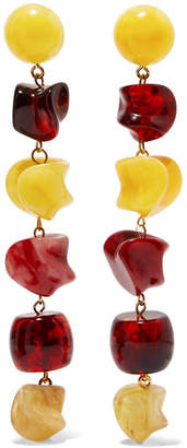 Cult Gaia Leo Acrylic Earrings - Yellow