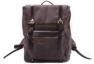 EAZO - Extra Large Waxed Canvas Backpack in Brown