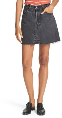 Women's Re/done High Waist Denim Miniskirt $230 thestylecure.com