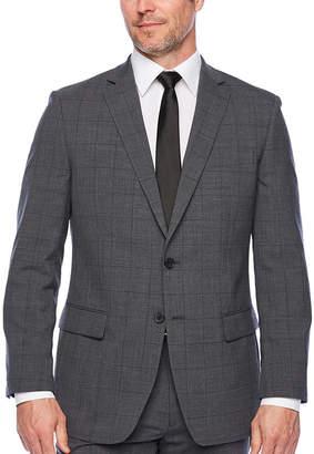 Liz Claiborne Checked Classic Fit Suit Jacket