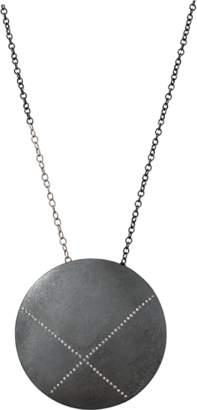 Todd Reed Diamond X Circle Pendant Necklace