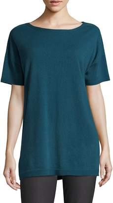 Eileen Fisher Women's Bateau Neckline Cashmere Top