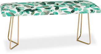 Deny Designs Ninola Design Mint Flower Bench