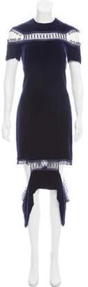 Christopher Kane Velvet Deconstructed Dress Navy Velvet Deconstructed Dress