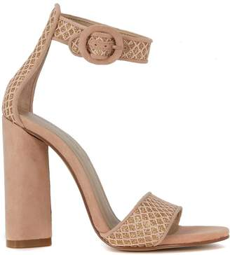 KENDALL + KYLIE Kendall+kylie Giselle Pink Ang Glitter Fabric Sandal