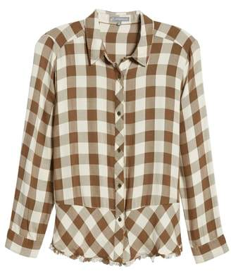 Wit & Wisdom Peplum Plaid Shirt