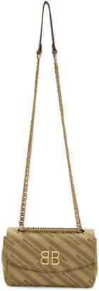 Balenciaga Beige Jacquard BB Chain Bag