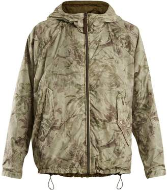 Woolrich Reversible palm-print lightweight jacket