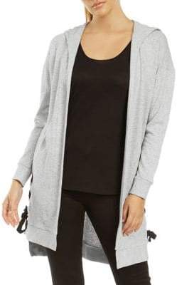 Dex Hooded Open Front Cardigan