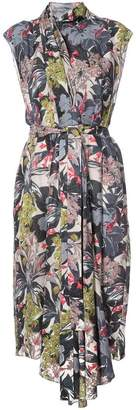 Tome floral asymmetric dress