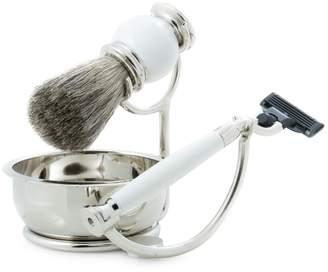 Bey-Berk Bey Berk 4-Piece Mach3 Razor, Badger Hair Brush, Soap Dish & Stand Set