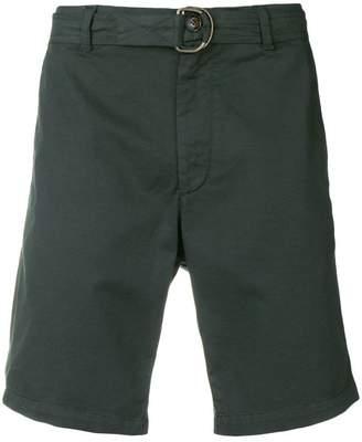 Eleventy D-ring buckle belt shorts